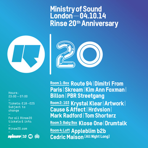 Rinse FM Podcast - Hrdvsion (Live From Ministry of Sound) - 4th October 2014