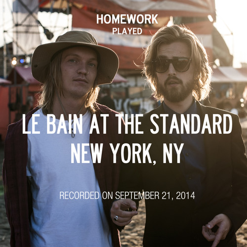 soundcloud homework le bain 2014