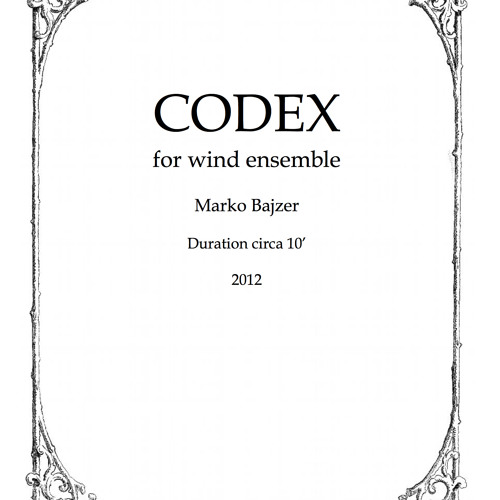 Codex for Wind Ensemble