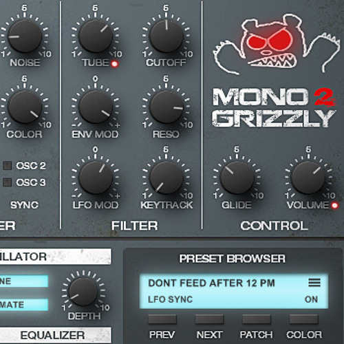 CFA-Sound - MonoGrizzly 2.0 Bass Synthesizer (Factory Presets Demo)