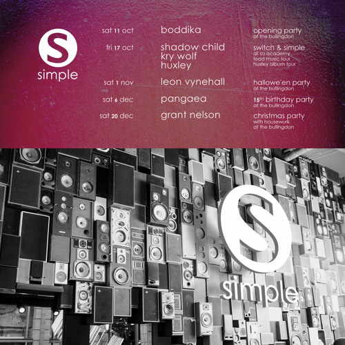 Live at Simple before Boddika (Oct 2014)