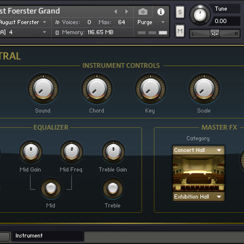 NI Pianos - 12 August Foerster Grand Kontakt 128 Voice With Pedal