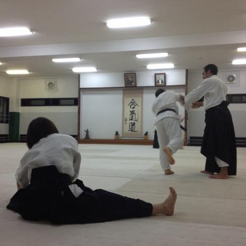 Hombu Aikido dojo with Doshu teaching