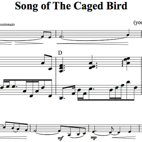 Song Of The Caged Bird Piano Accompaniment Sample By