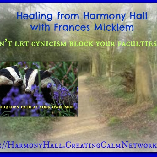 Healing From Harmony Hall with Frances Micklem - Don't Let Cynicism Block Your Faculties