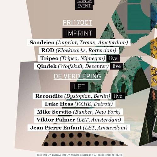 Qindek Live @ Trouw Amsterdam - IMPRINT - ADE - 17-10-2014