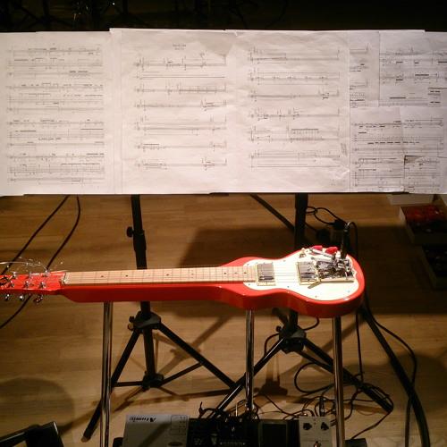 lens (2013) for quartertone flugelhorn and electric lap steel guitar