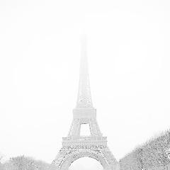 Schneefall  In Paris