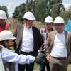 Alcalde Miguel Ángel García Pérez -visita al cruce sub vial