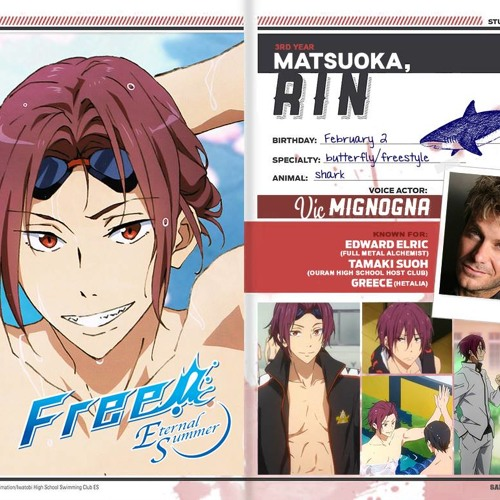 Vic Mignogna Voicing Rin Matsuoka By Nipahdubs I'm 19 years old and a fan of anime and video games. vic mignogna voicing rin matsuoka by
