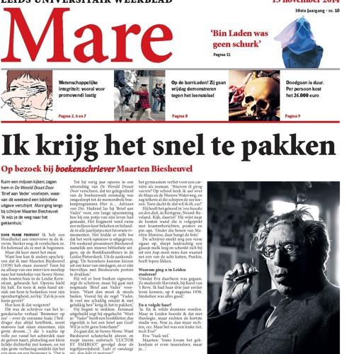 """Maarten Biesheuvel leest voor: """"De Ideale Hoogleraar"""""""