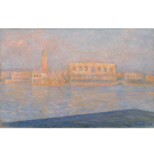 Verbal Description of The Palazzo Ducale, Seen from San Giorgio Maggiore by Claude Monet
