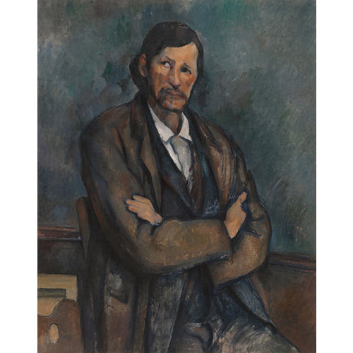 Verbal Description of Man with Crossed Arms by Paul Cezanne