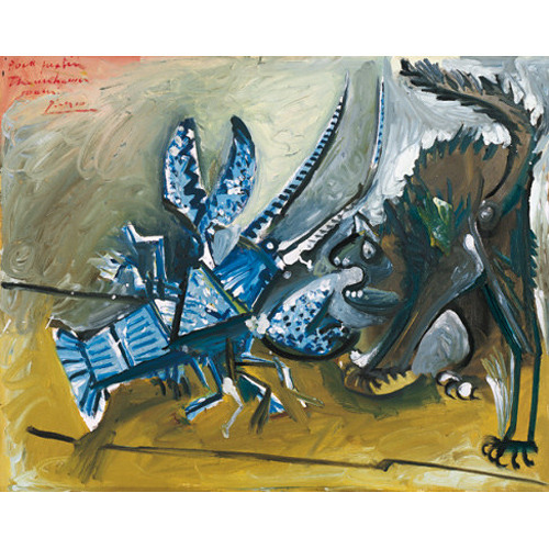 Verbal Description of Lobster and Cat by Pablo Picasso