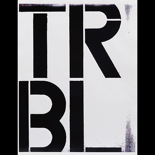 Christopher Wool, Trouble, 1989