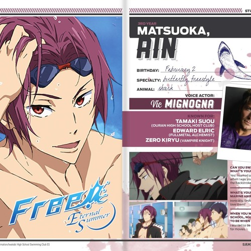 Vic Mignognas Response To Being Officially Casted As Rin Matsuoka By Nipahva Butterfly specialty breaststroke individual medley the rival. soundcloud