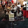 Elder' music club playing traditional Thai music at the Sunday night market in Chiang Mai