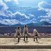 Shingeki No Kyojin 進撃の巨人 OP - Opening -  Guren No Yumiya  - Linked Horizon