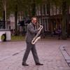 Saxofoonsolo op het  Havenplein / saxophone solo on het Havenplein
