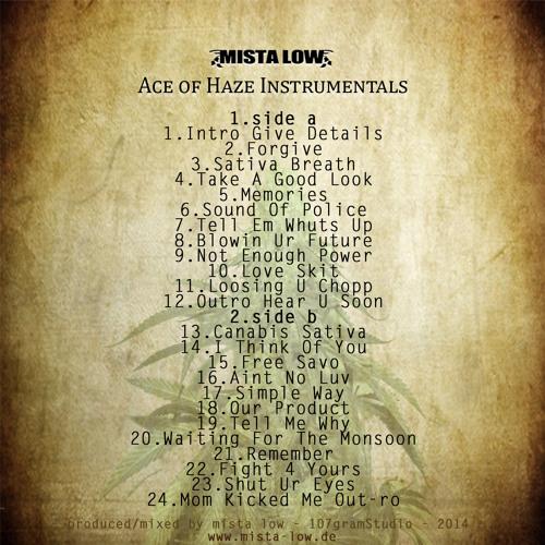 Mista Low - Ace Of Haze Instrumentals