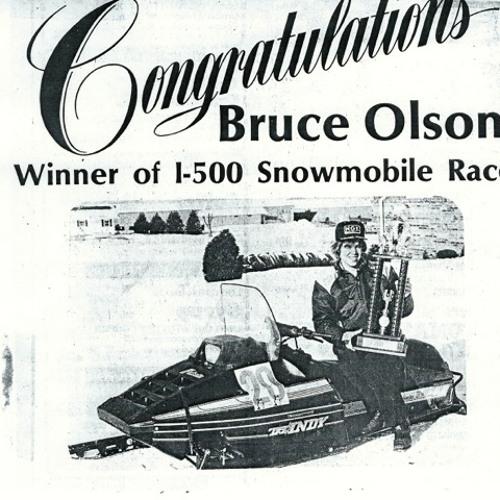 BRUCE OLSON I-500 CHAMPION
