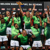 South Africa sevens Kyle Brown and Neal Powell on their victory in Port Elizabeth