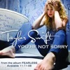You're not sorry by Taylor Swift