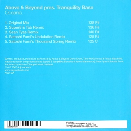 Above & Beyond pres. Tranquility Base - Oceanic (Sean Tyas Remix)