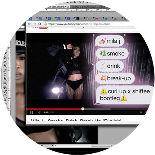 mila j - smoke, drink, breakup (curlup x shiftee bootleg)