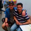 Das bin ich und mein Onkel.