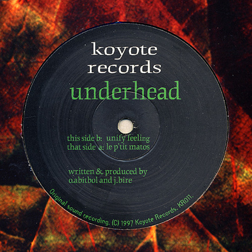 *NEW * UNDERHEAD - Unify Feeling - 1997 - MASTER  2018