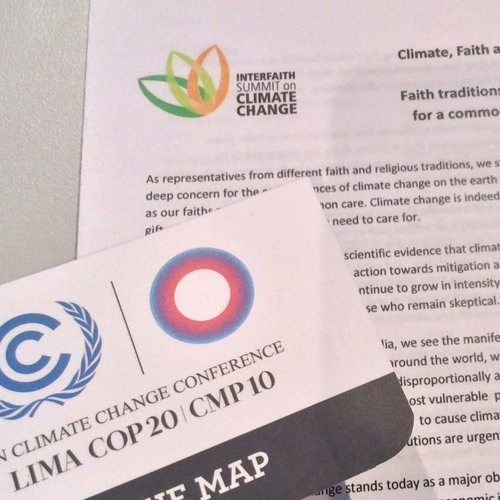 """COP 20 Side Event """"Climate change threatening human rights: challenges and actions"""""""
