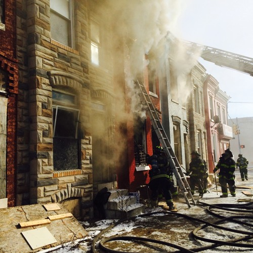 Baltimore City Working Fire w/ Hoarding Conditions
