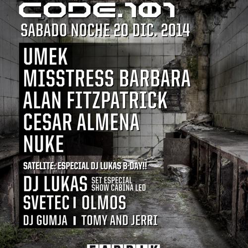 Lukas 3 decks + EFX @ CODE 101, Fabrik 21.12.2014 SPAIN