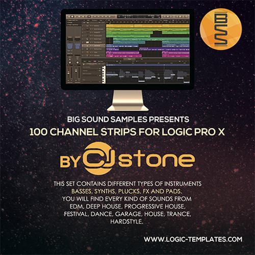 100 Channel Strips for Logic Pro X By Cj Stone
