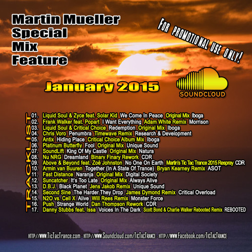 Martin Mueller - Soundcloud Mix January 2015