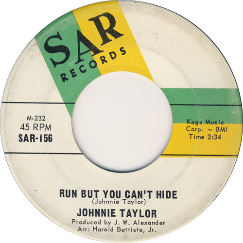 Johnnie Taylor - Run But You Can't Hide