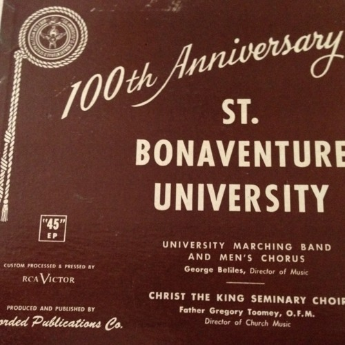 St. Bonaventure University - Unfurl The Brown And White - 1958 Marching Band