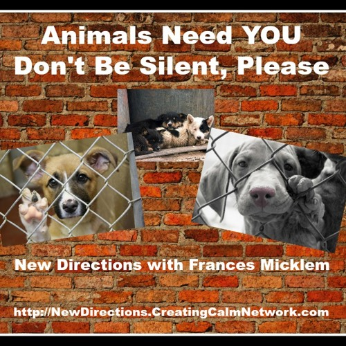 New Directions with Frances Micklem - Animal Rescue Needs People to Speak Up