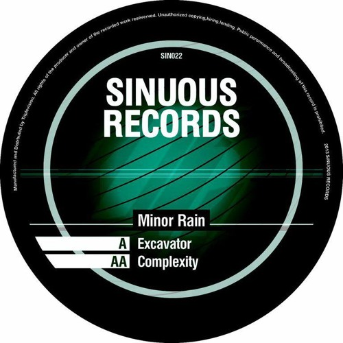 Sinuous Records Sin022 - aa.Minor Rain - Complexity - limited colour vinyl & Mp3