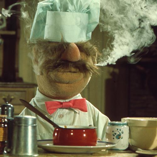 Welk 70's dessert maakt de Swedish Chef uit de Muppets hier klaar?