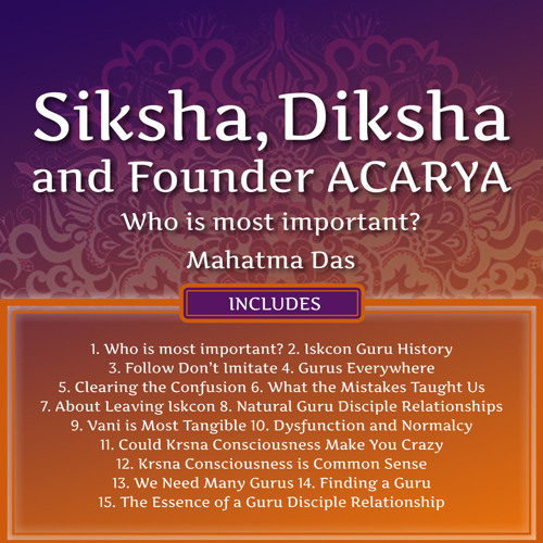 Siksha, Diksha, and Founder Acarya