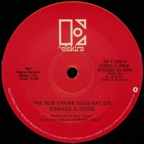 The Bob Crewe Generation - Menage A Trois (Swifft Xtra Valentine Edit)