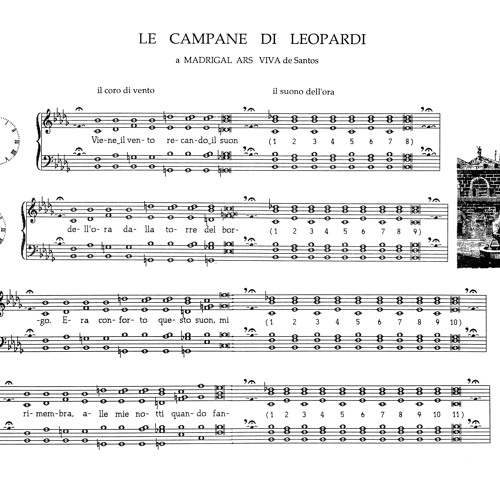 """Le Campane di Leopardi"" for mixed choir & tuned wine glasses"