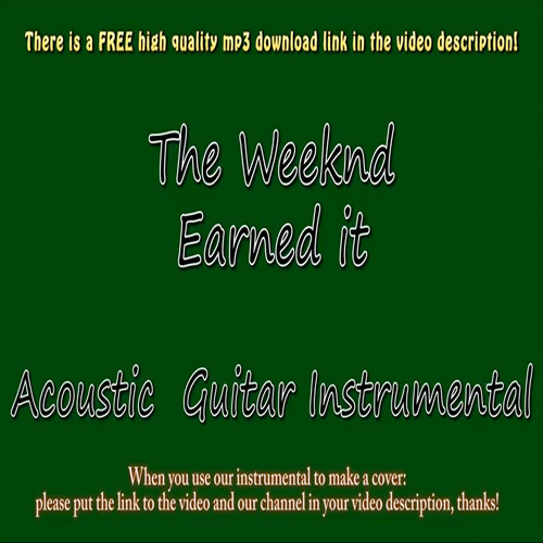 The Weeknd Earned It Guitar Instrumental Fifty Shades Of Grey By