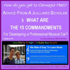 What are the 15 Commandments for developing a musical ear? Practiced by Jacob & Jessica Livianu