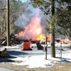 Fire Radio Audio from Stafford Township, Ocean County, NJ of House Explosion