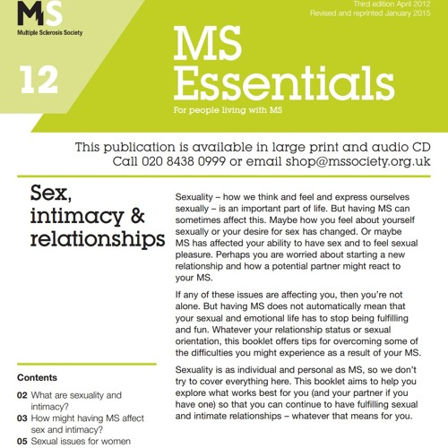 Sex, Intimacy & Relationships - Intro (1 of 14)