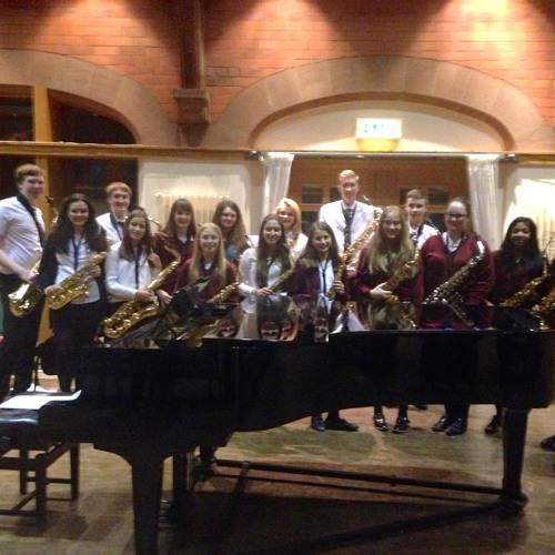Saxophone Choir at Girls' Division Recital Evening