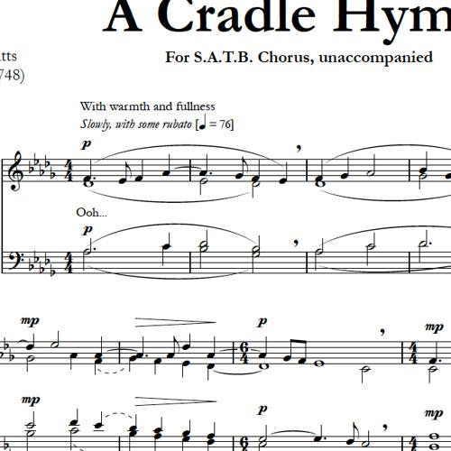 CRADLE HYMN (SATB) - Concordia A Cappella Choir